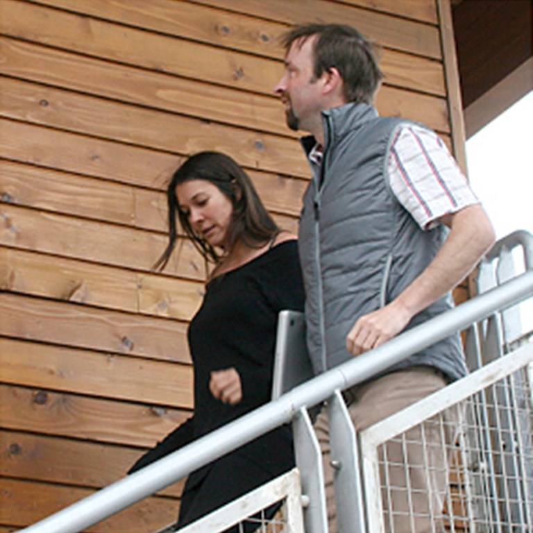 Alexandra and Leo on Stairs Cornish Design Company