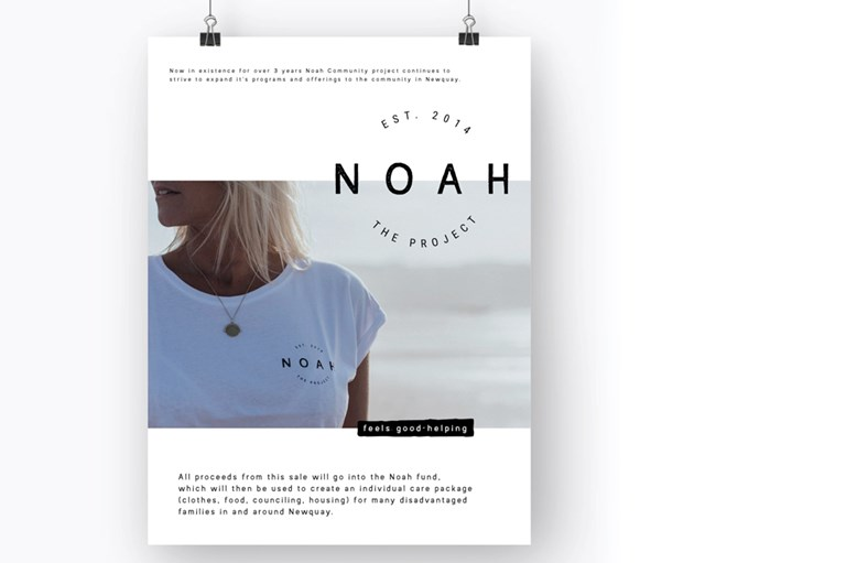 t-shirt, logo for The Noah Project local charity