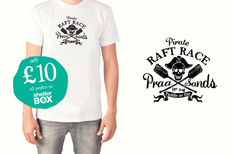 Praa Sands Pirate Raft Race T-shirt, Design79 Cornwall