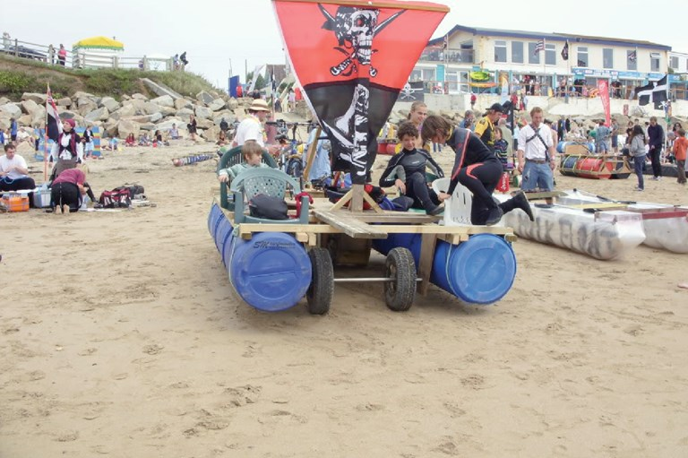 Praa sands Raft Race Cornwall