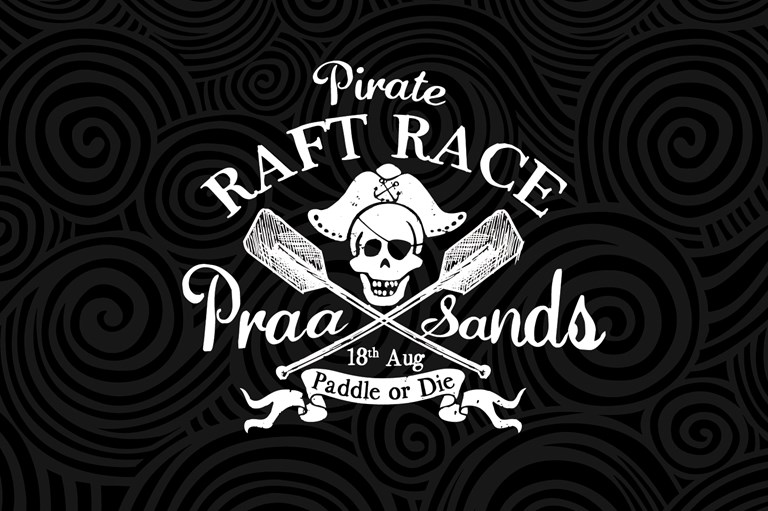 Praa Sands Pirate raft race logo