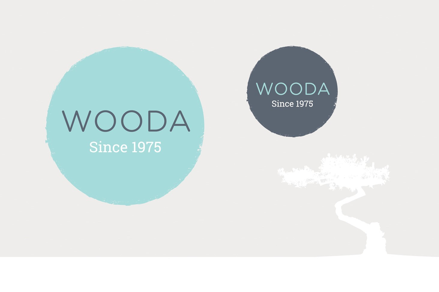 Wooda Farm Holiday Park, Brand, logo, tree, pastel blue,