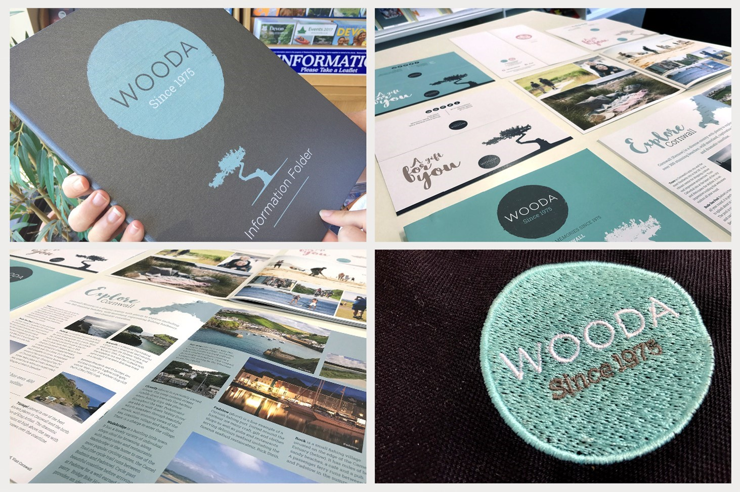 brochure, print, signage, logo, wooda farm, design79