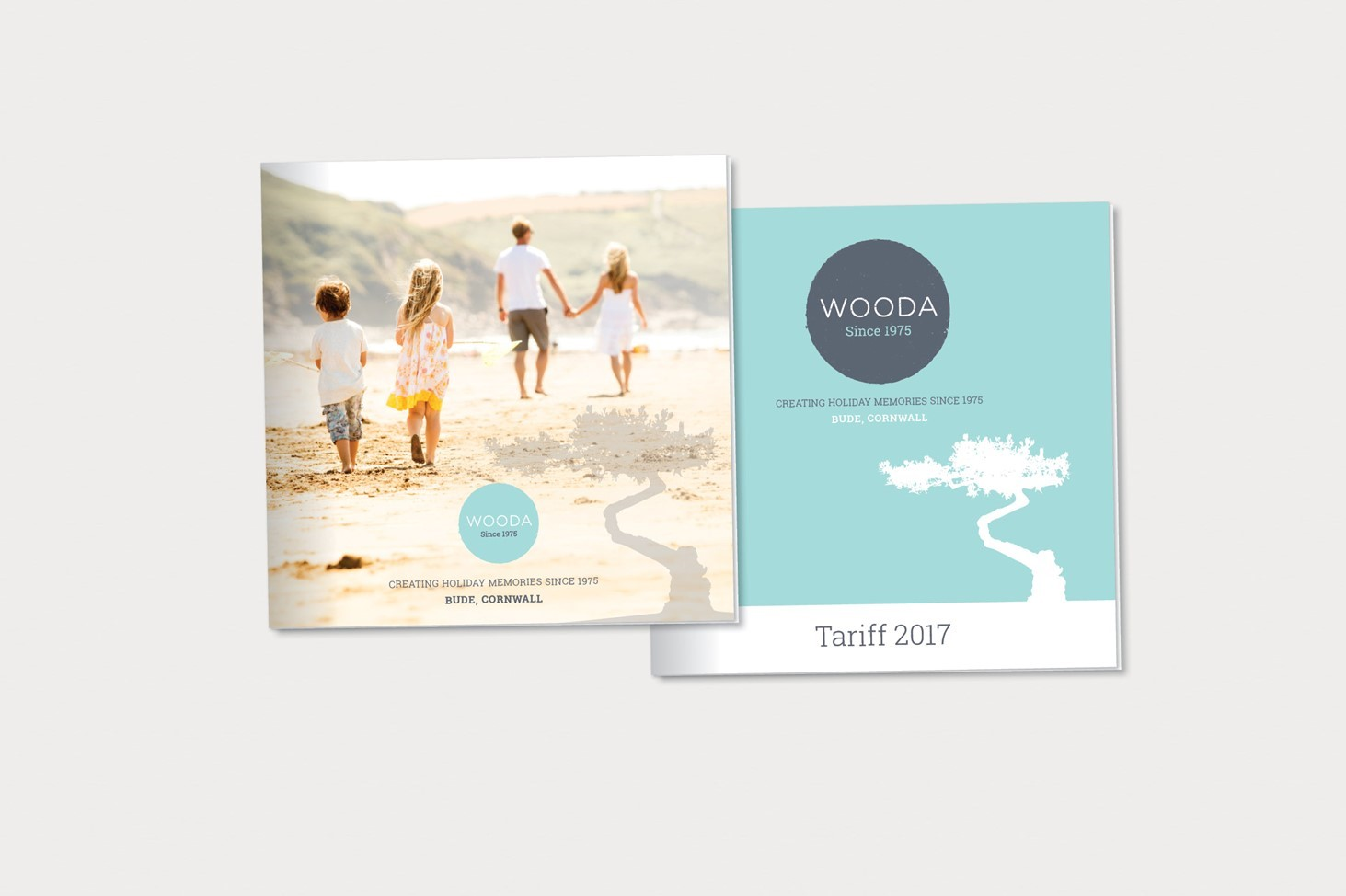 print, visual, brand graphic, Wooda, tree, flyer, leaflet, handout