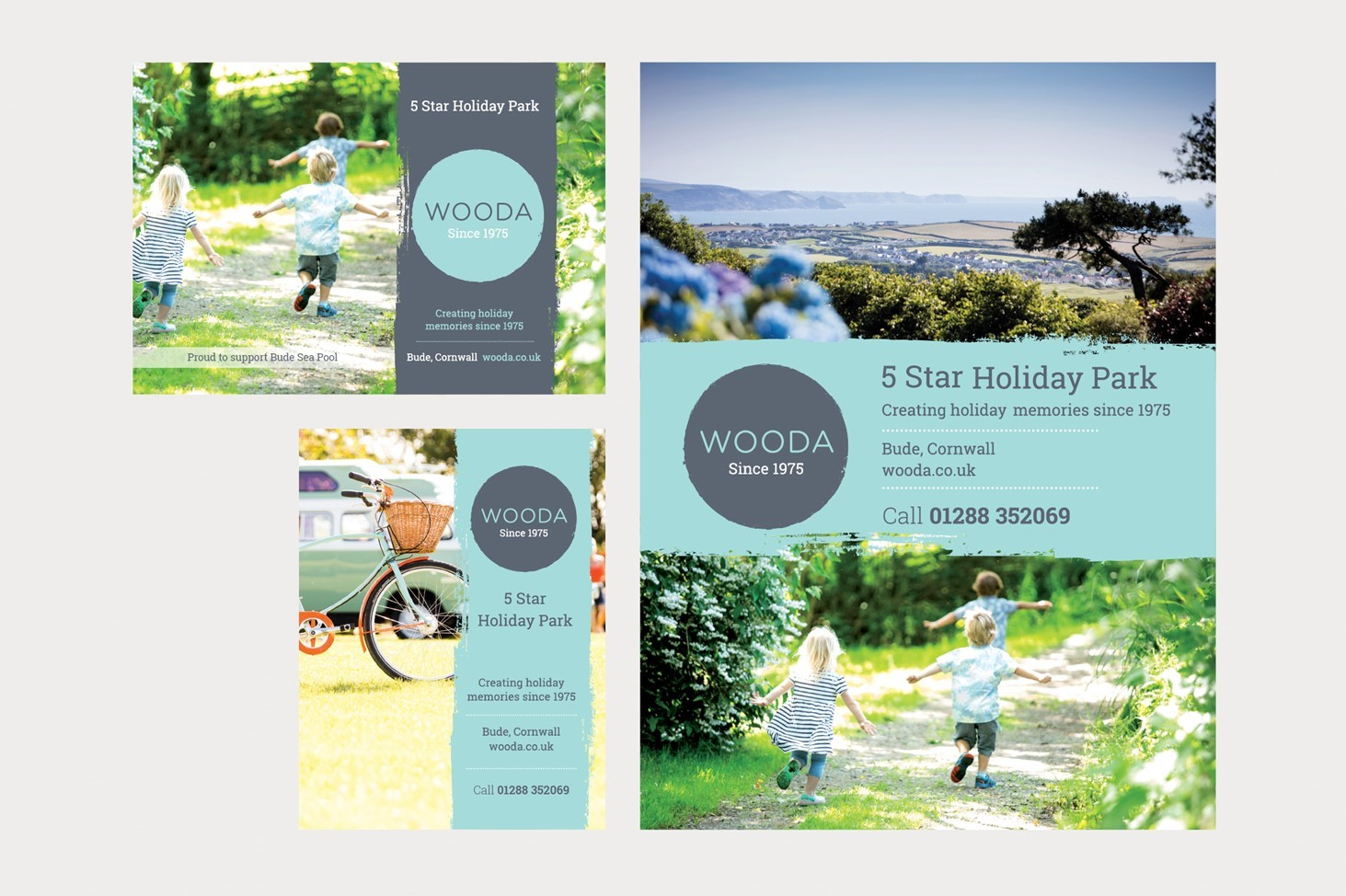 print, Wooda, brand, tree, walking, family, Cornwall, booklet, leaflet,