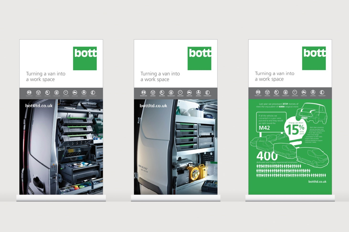 Visual of Bott Fleet exhibition panels