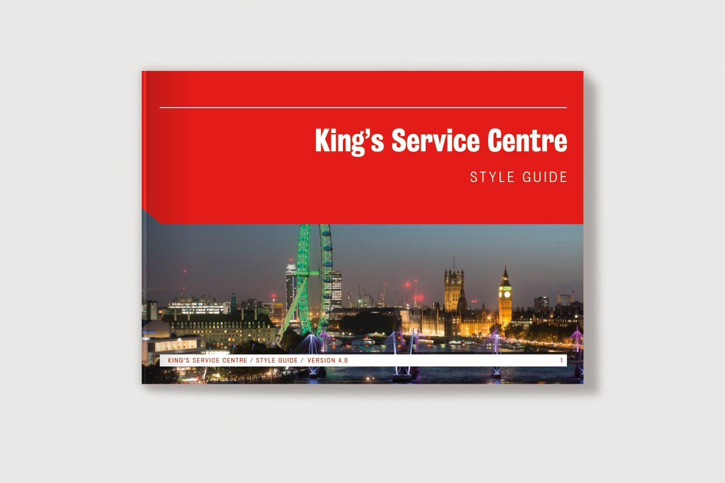 Visual of the style guide for King's Service Centre