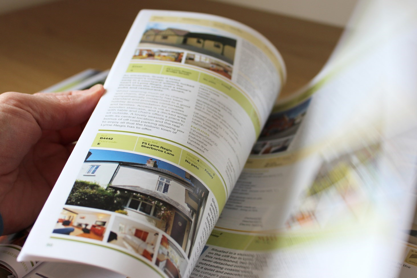 Photo of a spread for the Lyme Bay Holidays Brochure