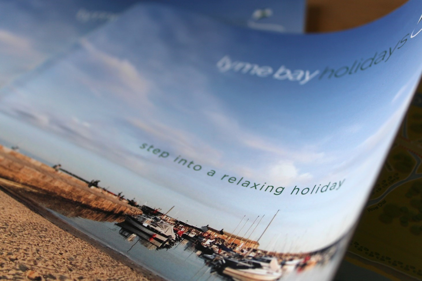 Phtographic detail of cover for the Lyme Bay Holidays Brochure