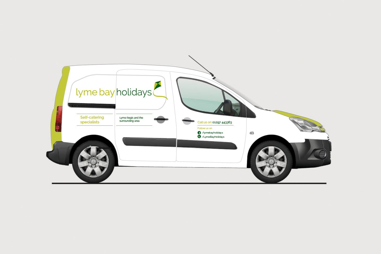Visual of Van livery for Lyme Bay Holidays