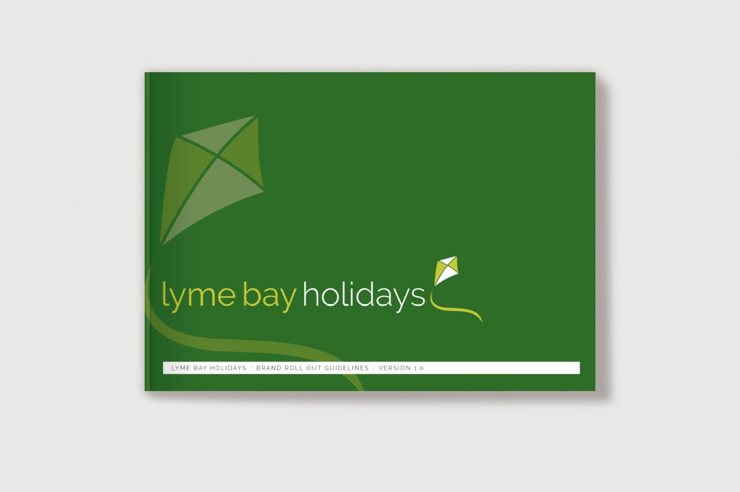 Cover of the Brand Guidelines for Lyme Bay Holidays