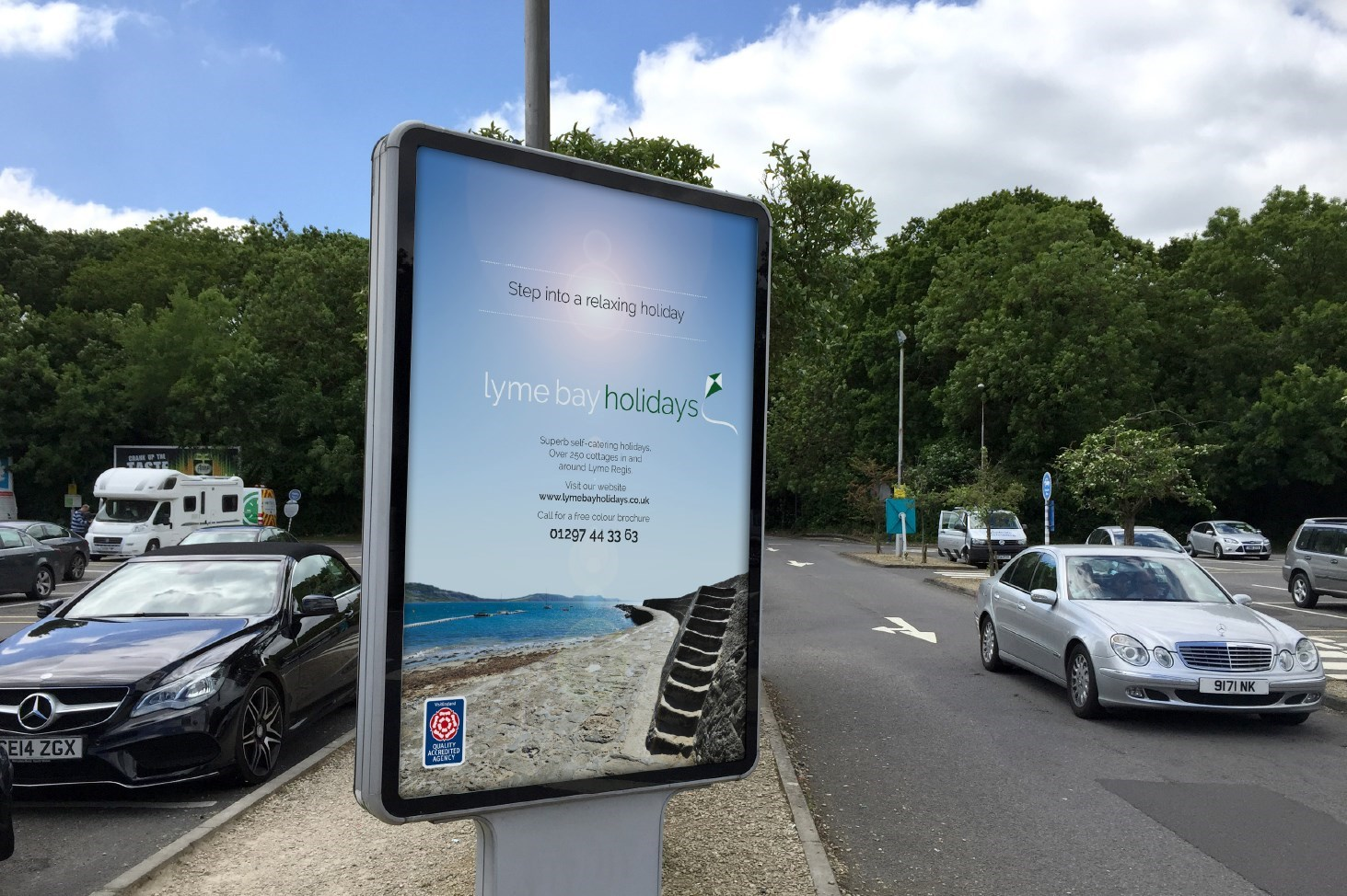 Image of Lyme Bay Holidays advertising sign