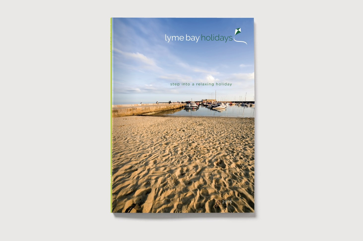 Visual of the cover for the Lyme Bay Holidays Brochure
