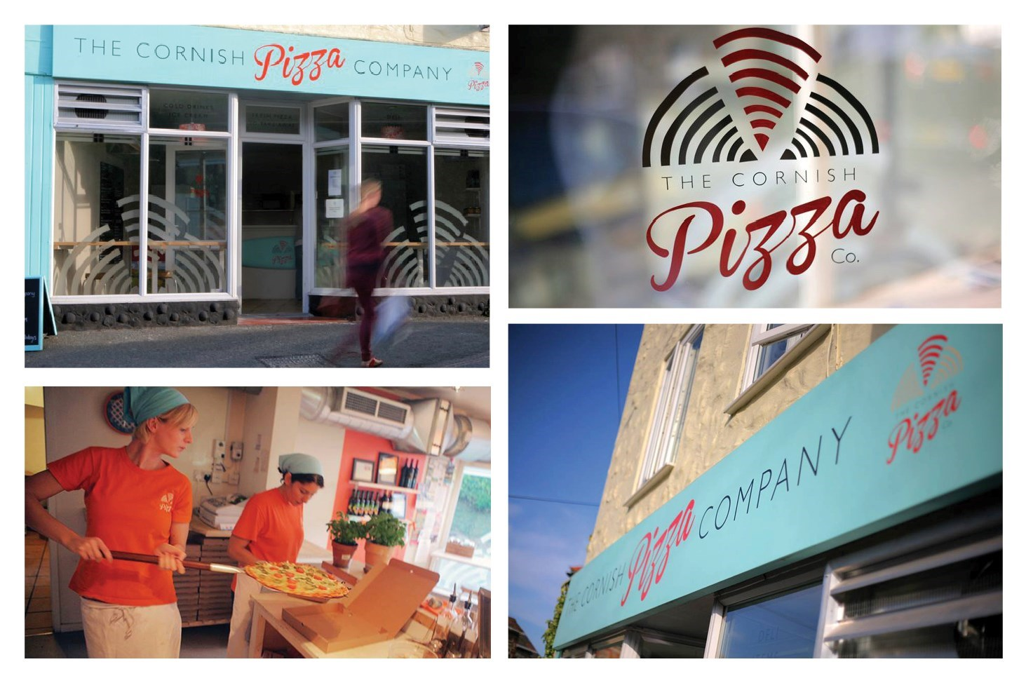 Cornish Pizza Company St Agnes exterior signage montage