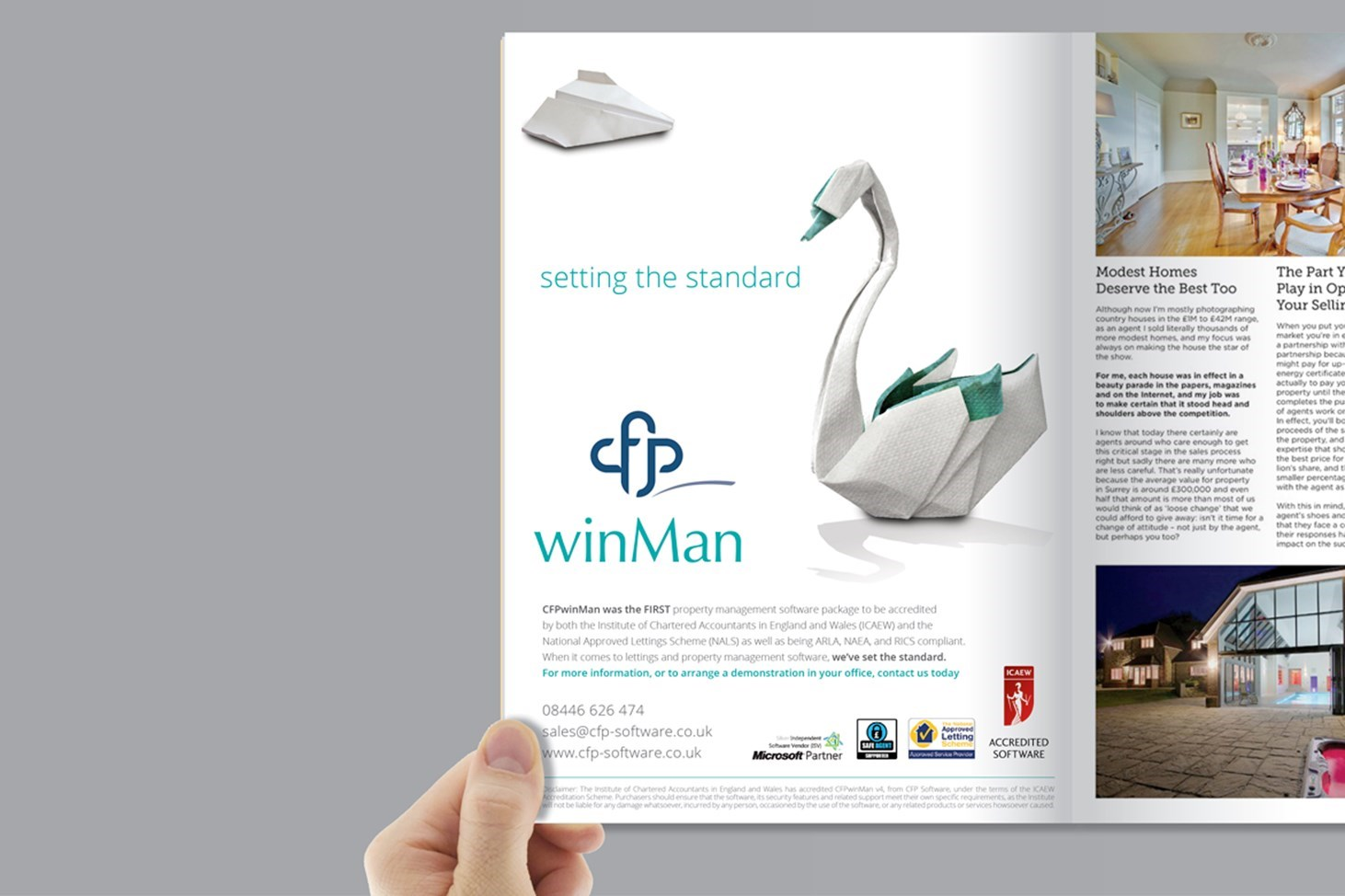 CFP property lettings software - swan!