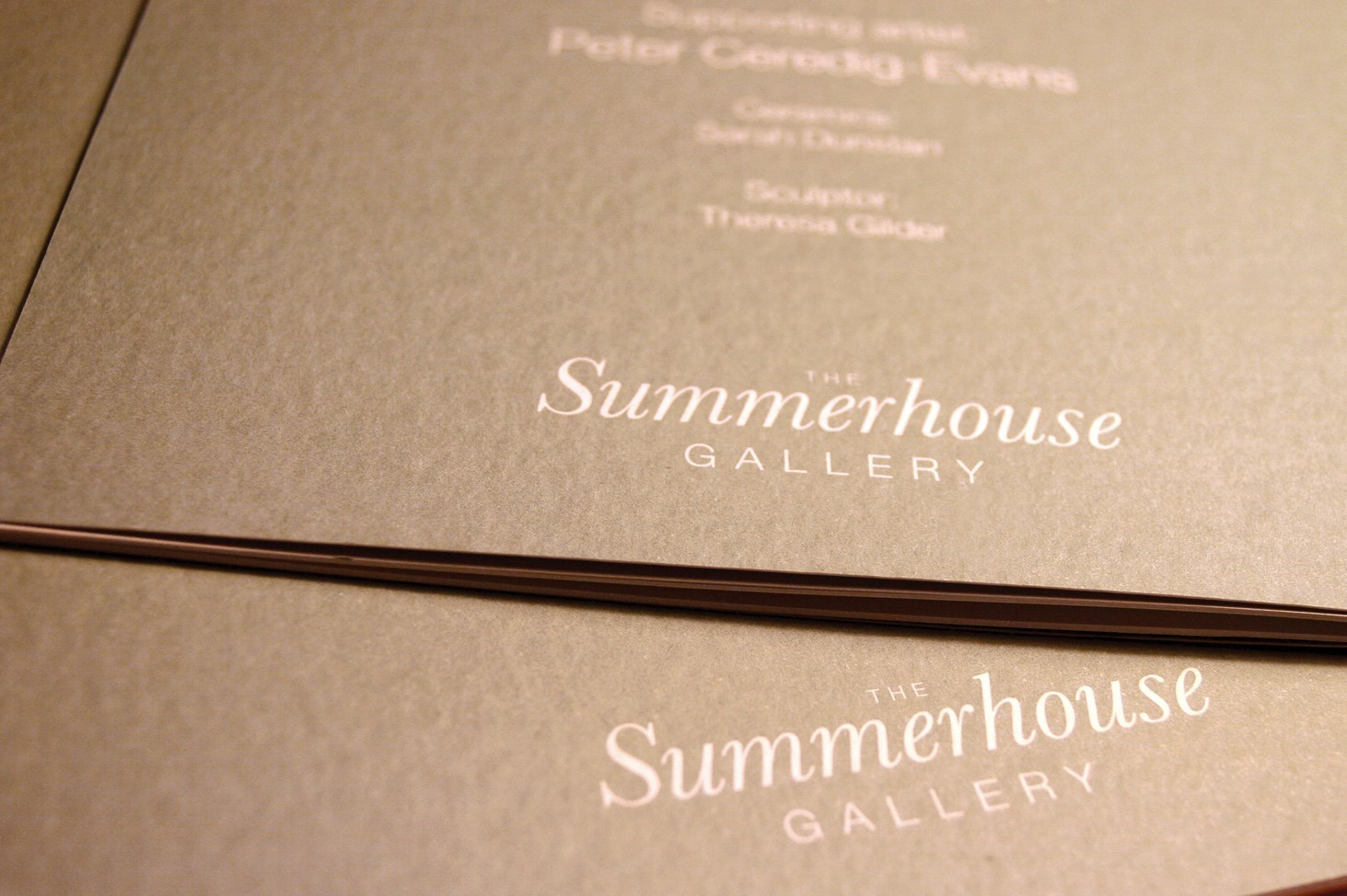 Example of exhibition promotional print for Summerhouse Gallery Marazion