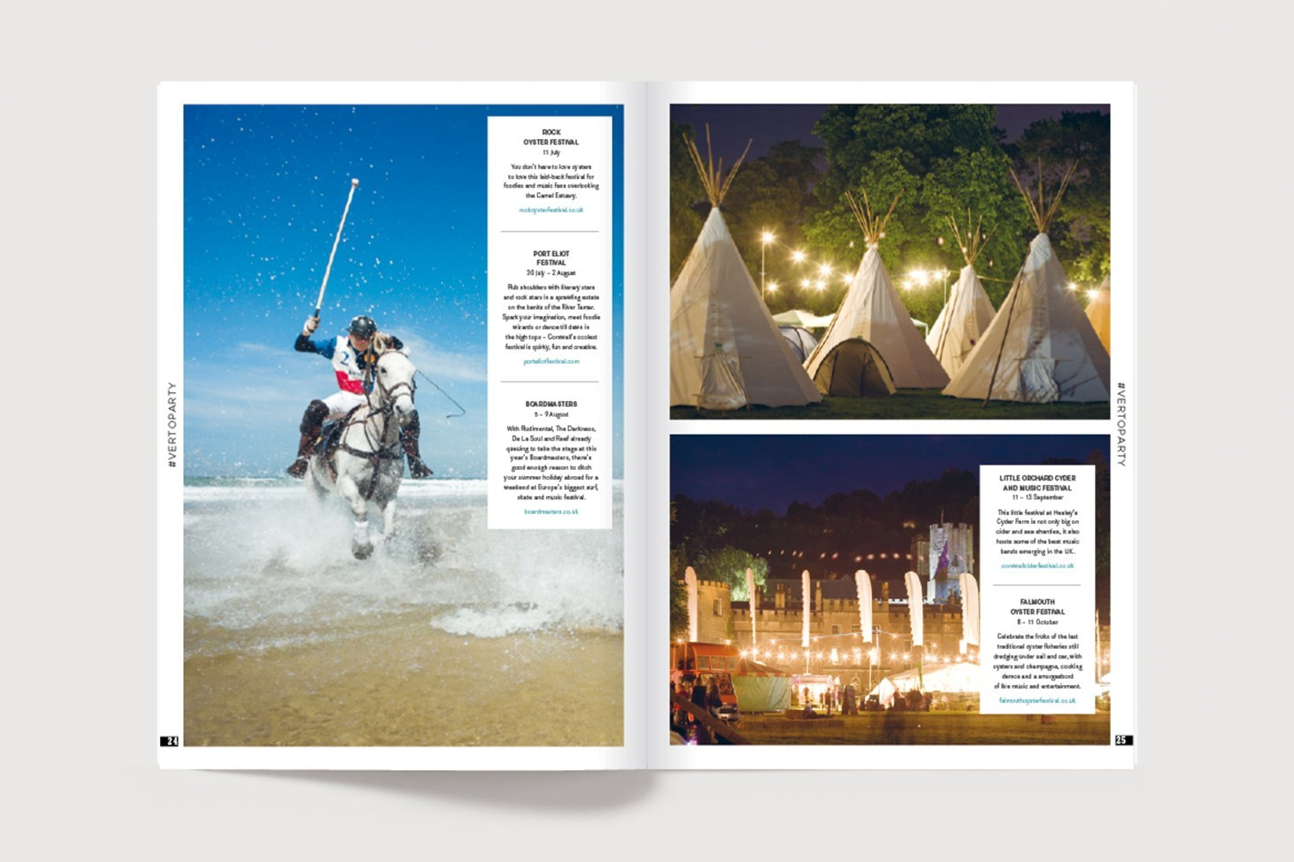 A spread from Verto Life online magazine showing activities