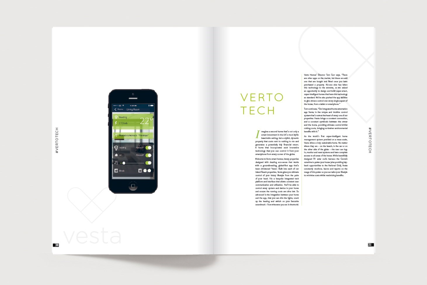 A spread from Verto Life online magazine