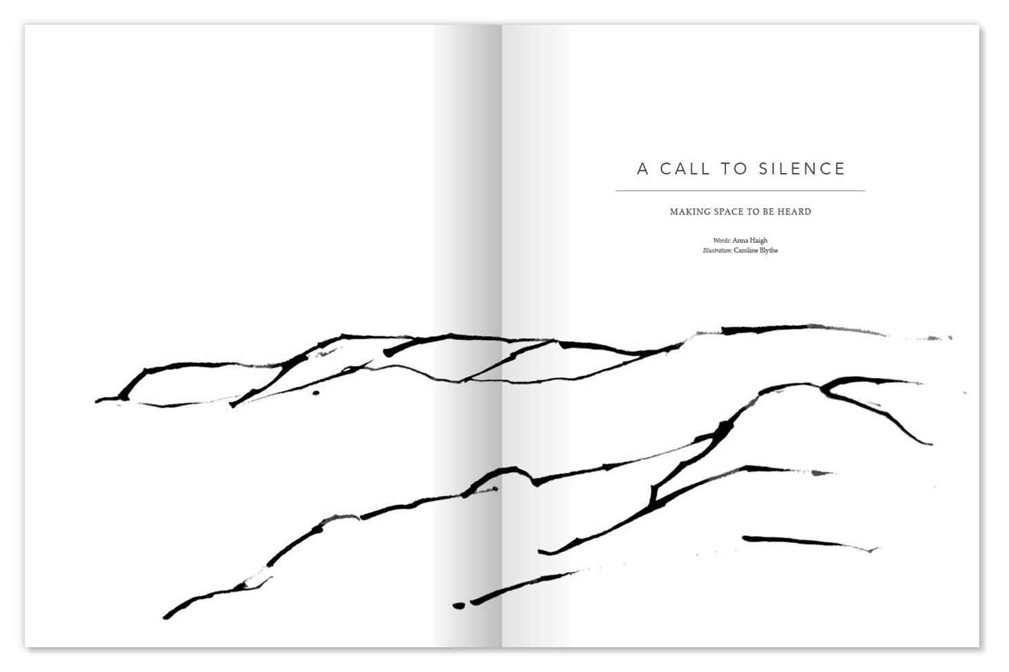 Elementum, design, print, publication, magazine, nature, clean, presentation, proof reading, layout, Design79, Silence