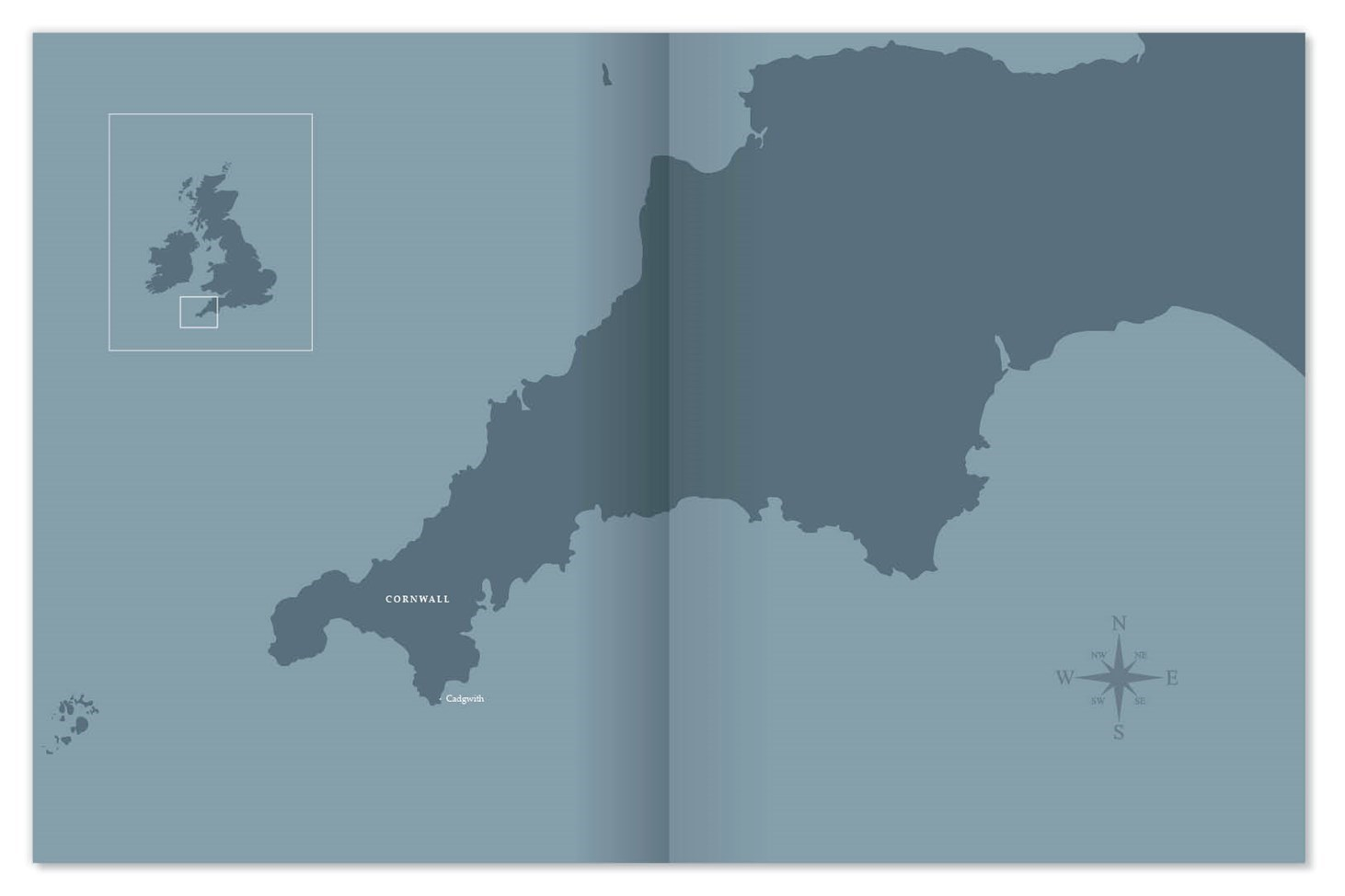 Elementum, design, print, publication, magazine, nature, clean, presentation, layout, Design79, Cornwall, map, Cadgwith