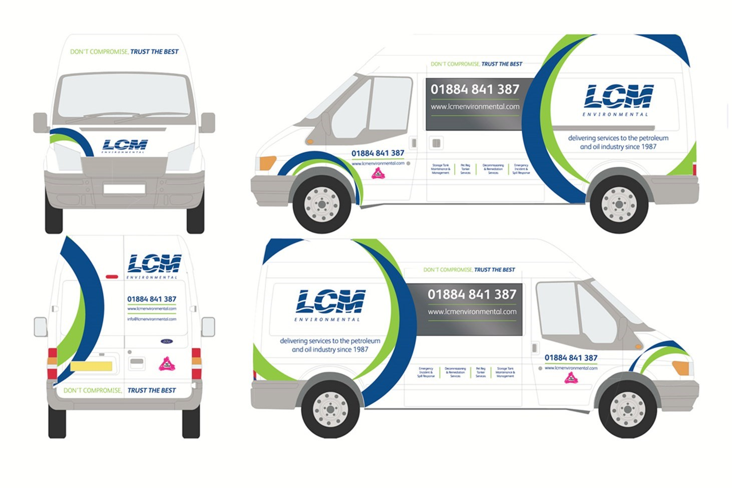 LCM, Environmental, industrial, graphic design, Design79, Cornwall, Exeter, large scale, artwork, tankers, vehicle wrap, print, design,